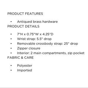 T-Shirt & Jeans Bags - T-Shirt & Jeans Floral Wristlet NWT V3